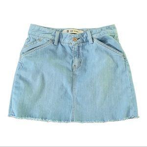 Gap Light Wash Jean Mini Skirt